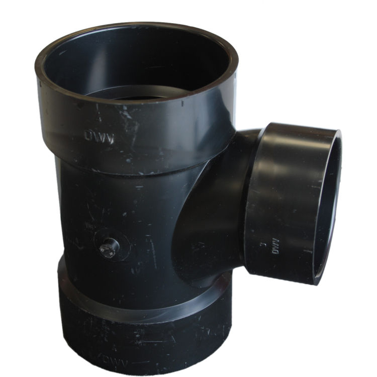 Commodity  4 x 4 x 3 Inch ABS Sanitary Tee, ABS Construction