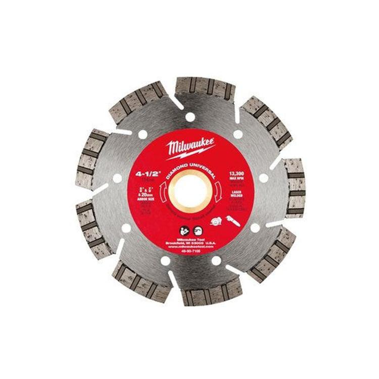 Milwaukee 49-93-7105 Milwaukee 49-93-7105 Diamond Universal Segmented Turbo Blade, 4-1/2