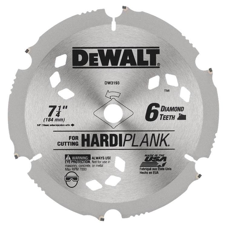Dewalt DW3193 Dewalt 20 Hardiplank Circular Saw Blade, 7-1/4in
