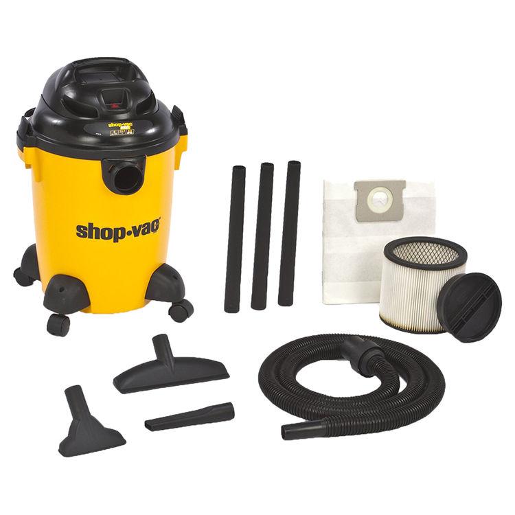 Shop-Vac 9650600 Ultra Pro 9650600 Wet/Dry Corded Vacuum, 120 VAC, 8.2 A, 3 hp, 6 gal Tank, 140 cfm