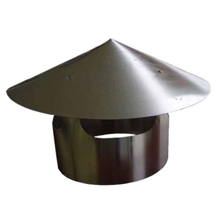 Aluminum Galvanized B-Vent Rain Cap Weather Protection Storm Collars 4 in
