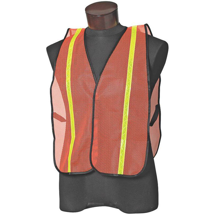 Jackson 3017589 Jackson 3017589 Reflective Safety Vest With Cloth Binding, One Size Fits All, Mesh Fabric