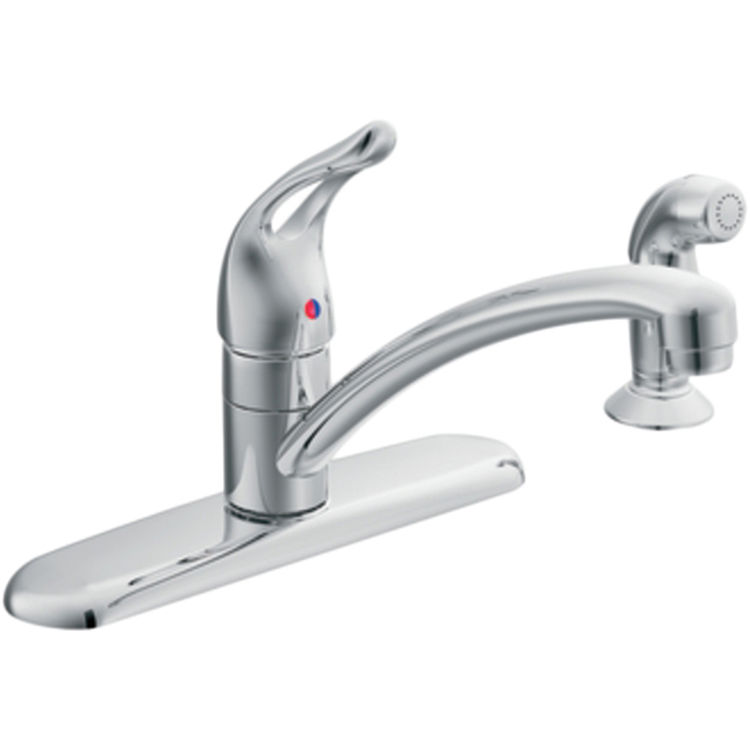 Moen 67460 Moen 67460 Chateau Series Single-Handle Kitchen Faucet with Side Spray (Chrome)