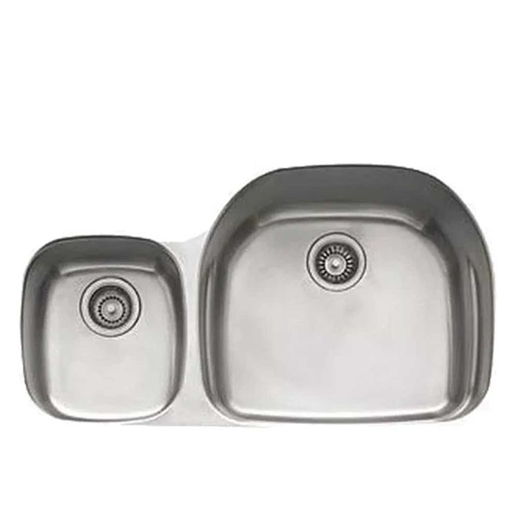 View 2 of Franke PRX120LH Franke PRX120LH Double Bowl Undermount Stainless Undermount Sink - Stainless