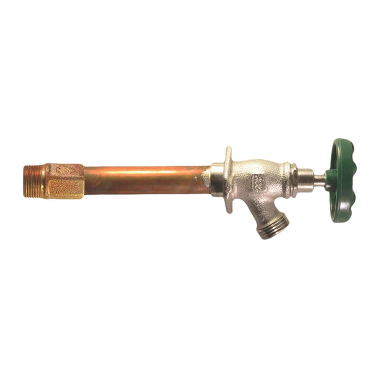 Arrowhead Brass 456-08LF Arrowhead 456-08LF Standard Frost Free Hydrant, 1/2 in, Sweat/MIP, 3-3/4 in Wall, 125 psi, Green Handle