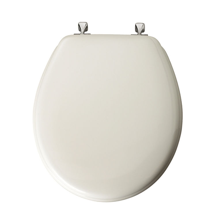 Bemis 44CP-000 Bemis 44CP-000 Toilet Seat, For Use With Round or Elongated Bowls, Molded Wood, White