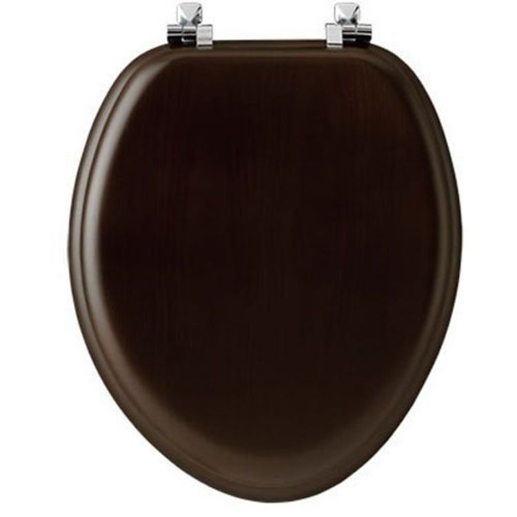 Fabulous Mayfair 19601Cp888 Toilet Seat For Use With Elongated Bowls Molded Wood Walnut Gmtry Best Dining Table And Chair Ideas Images Gmtryco