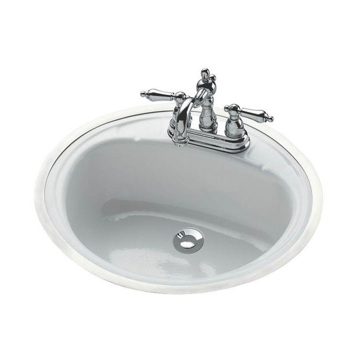 Bootz 021-2440-00 Bootz Daffodil Flat Rim Lavatory Sink, 17 in H x 20 in W x 7-13/16 in D, Porcelain on Steel
