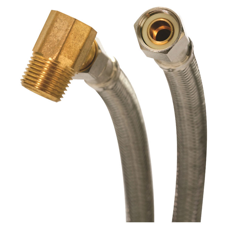 Fluidmaster 6W60 Fluidmaster 6W60 Braided Dishwasher Connector, 60 in Length, 3/8 in Compression, Stainless Steel