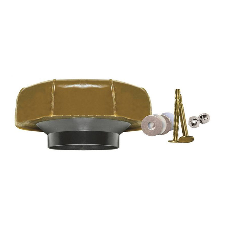 Fluidmaster 7514 Fluidmaster 7514 Toilet Wax Ring Kit With Flange and Bolts, For Use With 3 in and 4 in Waste Lines, Plastic