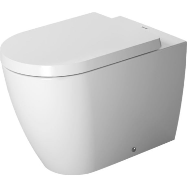 View 2 of Duravit 2169090092 Duravit 2169090092 ME by Starck Dual Flush One-Piece Floor Mounted Back-to-Wall Elongated Toilet - White