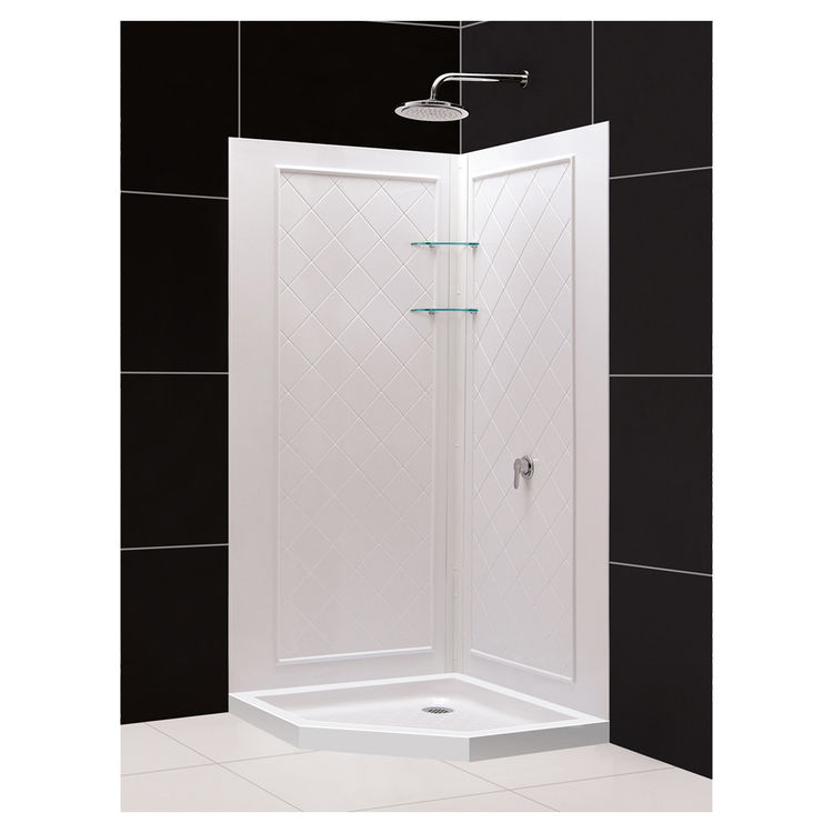 DreamLine DL-6044C-01 Neo-Angle Shower Base and QWALL-4 Backwall Kit