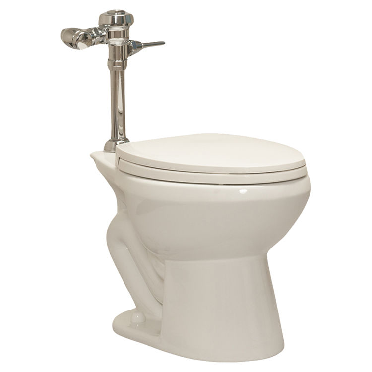 View 2 of Western Pottery ULF-432 Western Pottery ULF 432 White Elongated Flush Valve Toilet