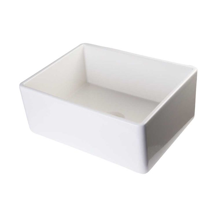 ALFI AB505-B Contemporary Fireclay Farm-Style Kitchen Sink, Biscuit