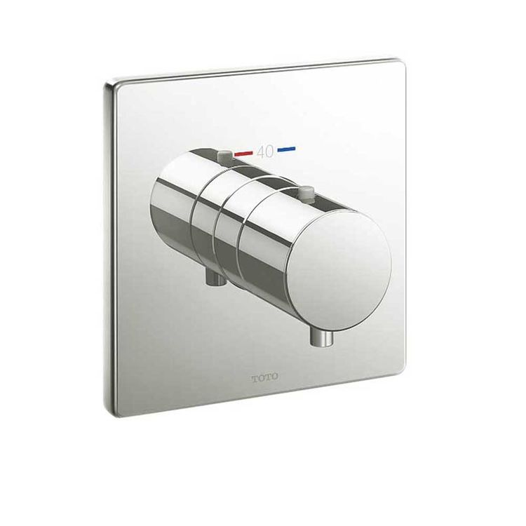 Toto TBV02401U#PN Toto TBV02401U#PN Polished Nickel Thermostatic Valve Trim - Square