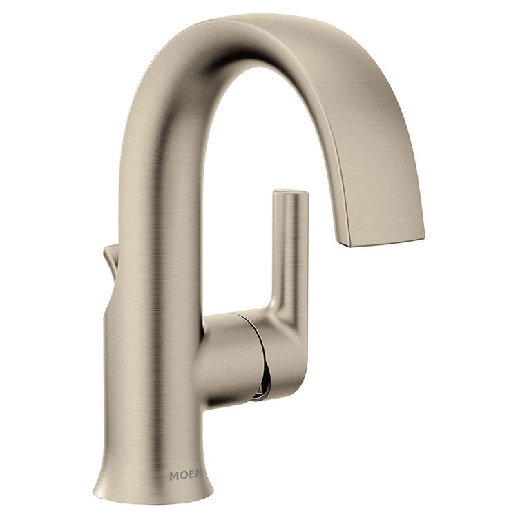 Moen S6910bn Brushed Nickel Doux Single Handle Lavatory Faucet