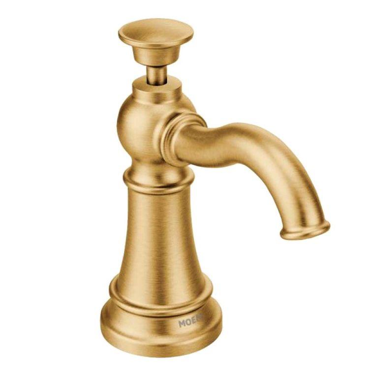 Moen S3945BG Moen S3945BG Traditional Soap/Lotion Dispenser, Brushed Gold