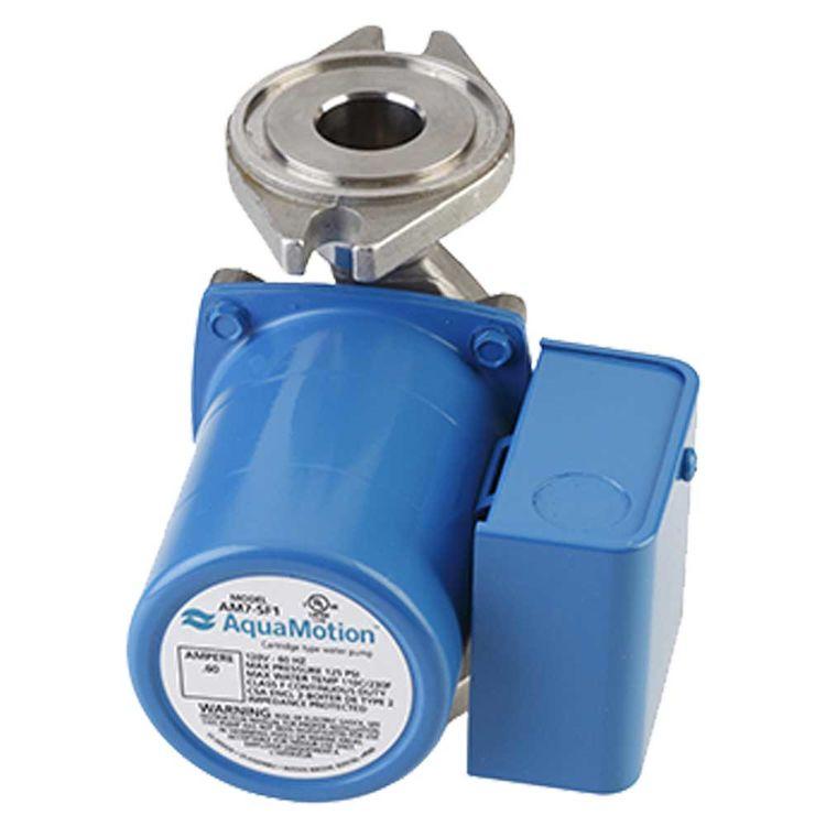 View 3 of Aquamotion AM7-SFV1 AquaMotion AM7-SFV1 Circulator Pump w/ Check Valve, 12 gpm, 0.60 amps, Single Speed, Stainless Steel