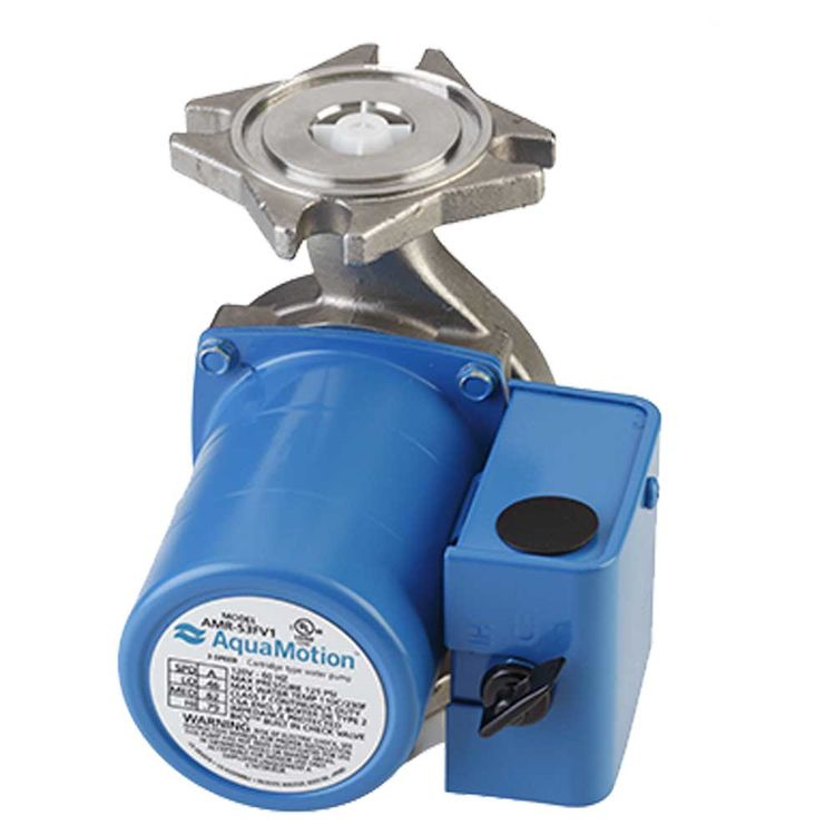 Aquamotion AMR-S3FV1 AquaMotion AMR-S3FV1 Circulator Pump with Check Valve, Stainless Steel