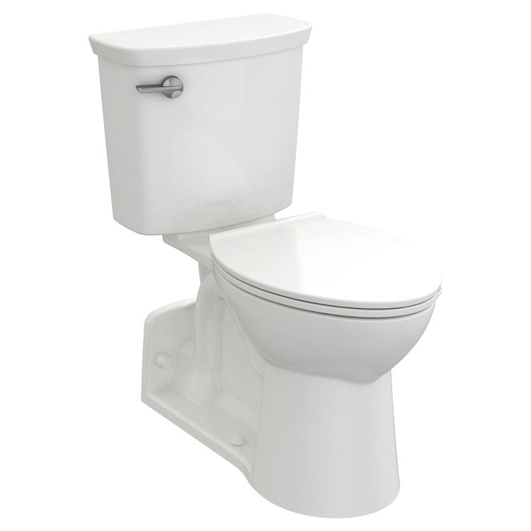 View 2 of American Standard 209AA137.020 American Standard Yorkville 209AA.137.020 White VorMax 1.28 GPF Elongated Toilet