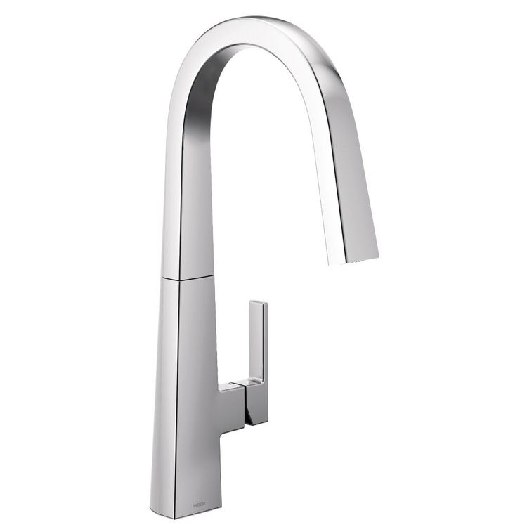 View 2 of Moen S75005 Moen S75005 Nio One-Handle Pulldown Kitchen Faucet, Chrome (Handle Accent Included)