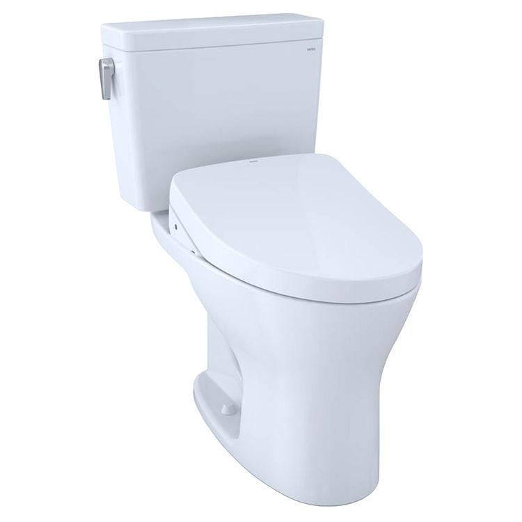 View 2 of Toto MW7463056CEMGA#01 TOTO Drake WASHLET+ S550e Two-Piece Toilet - 1.28 GPF & 0.8 GPF - Cotton White - MW7463056CEMGA#01