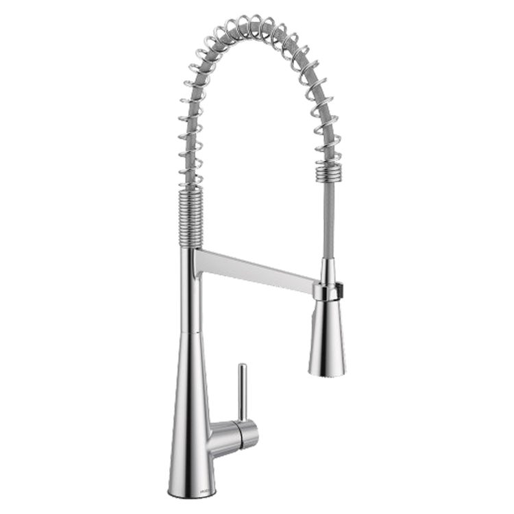 Moen 5925 Sleek Single Handle Pre Rinse Spring Pull Down Kitchen Faucet Chrome