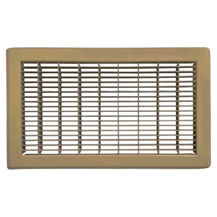View 2 of Shoemaker 1600-4X12 4x12 Driftwood Tan Vent Cover (Steel Honeycomb Construction) - Shoemaker 1600