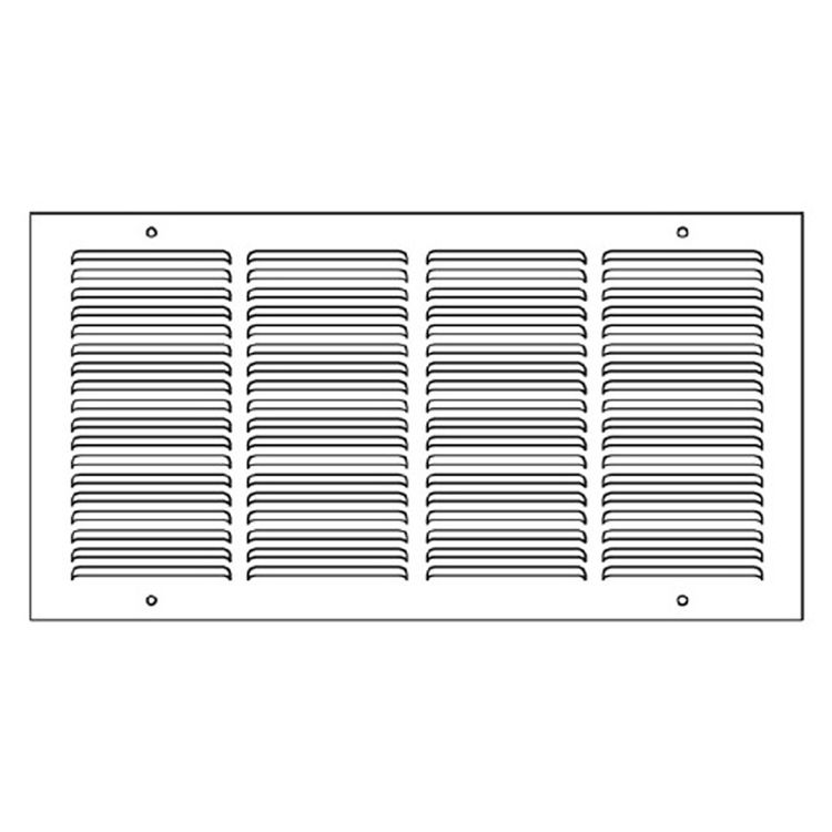 View 4 of Shoemaker 1050-14X14 14x14 Soft White Return Air Grille (Stamped from Cold Roll Steel) - Shoemaker 1050