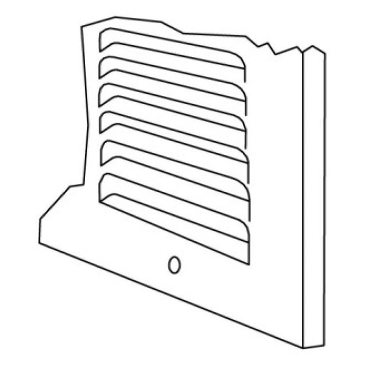 View 6 of Shoemaker 1150-14X6 14x6 Soft White Baseboard Return Air Grille (Steel) - Shoemaker 1150