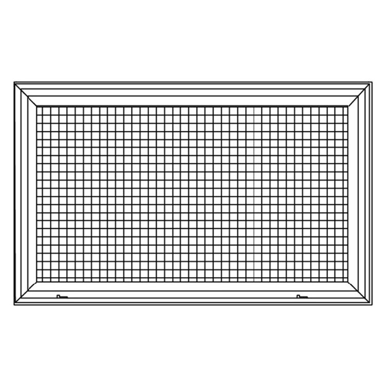 View 4 of Shoemaker 620FG1-10X10 10X10 Soft White Lattice Filter Grille with Steel Frame - Shoemaker 620FG Series