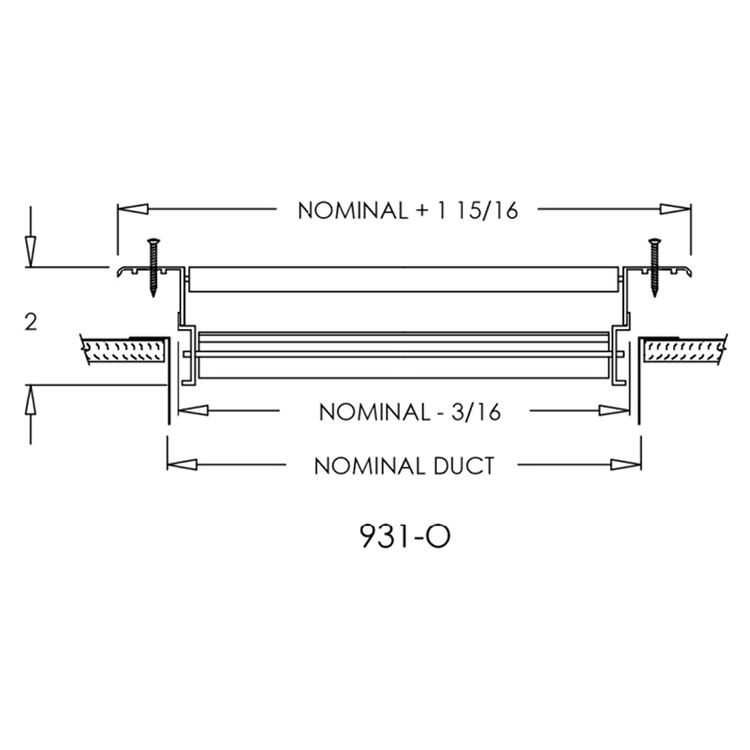 View 4 of Shoemaker 931-0-20X8 20X8 Soft White Steel Blade Single Deflection Diffuser Opposed Blade Damper - Shoemaker 931-0