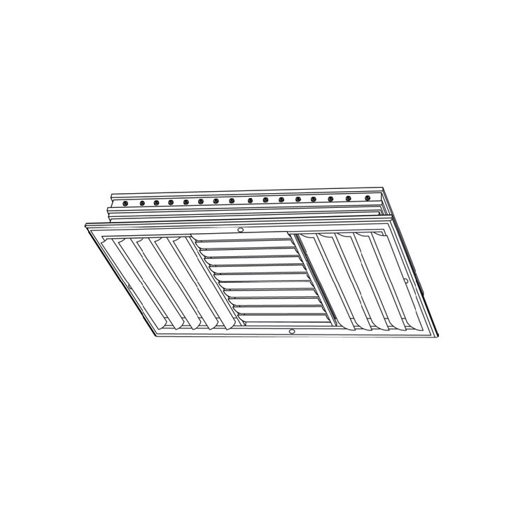 View 3 of Shoemaker CB30-16X6 16X6 Soft White Three-Way Adjustable Curved Blade Diffuser (Aluminum) - Shoemaker CB30
