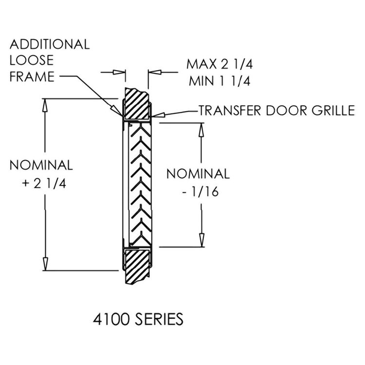 View 11 of Shoemaker 4000-16X16 16X16 Driftwood Tan Single Frame Aluminum Transfer Door Grille (Aluminum) - Shoemaker 4000