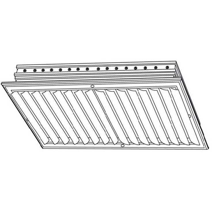 View 3 of Shoemaker CB20-10X26 10X26 Soft White Two-Way Adjustable Curved Blade Diffuser (Aluminum) - Shoemaker CB20