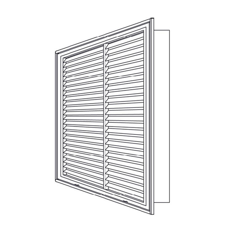View 5 of Shoemaker 900FG-32X10 32x10 Soft White Fixed Airfoil Blade Filter Grille (Aluminum) - Shoemaker 900FG