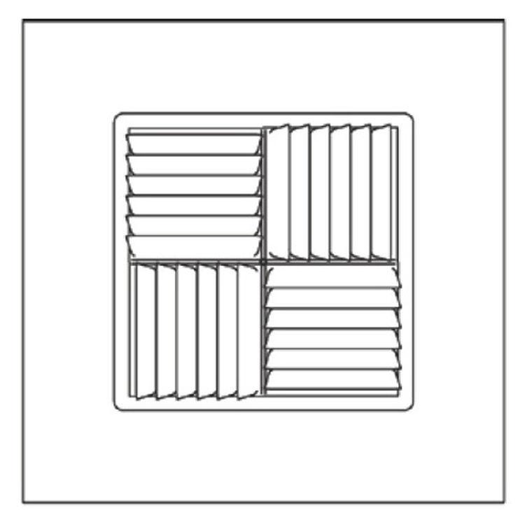 View 3 of Shoemaker 700MA-12X12-10 12X12-10 Soft White Modular Core Diffuser in T-Bar Panel - Shoemaker 700MA