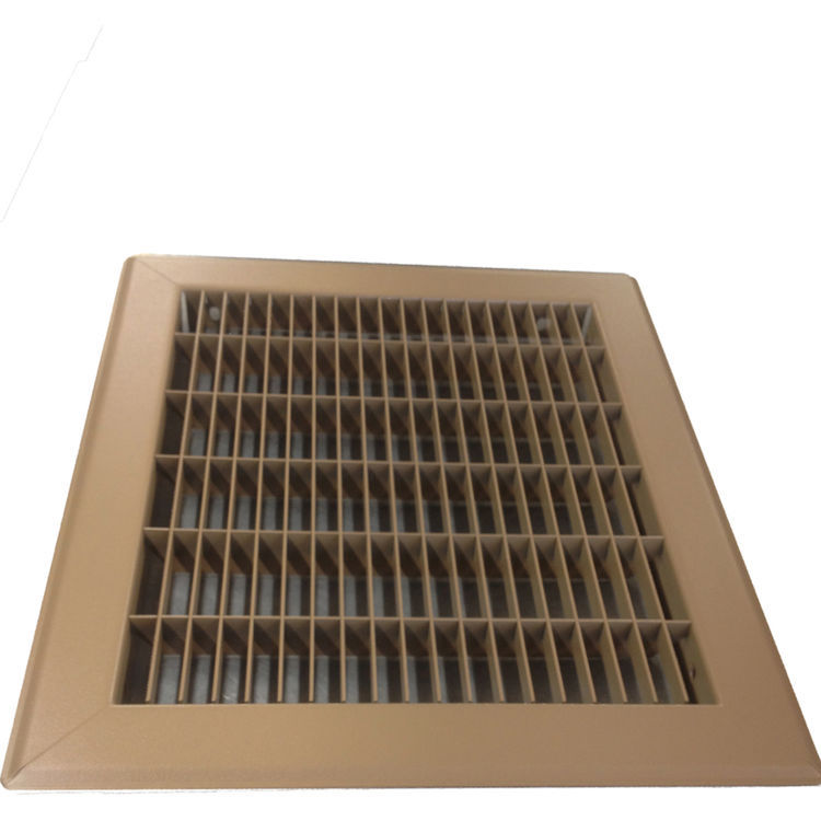 View 5 of Shoemaker 1600-R-18X24 18x24 Driftwood Tan Vent Cover (Steel Honeycomb Construction) - Shoemaker 1600R