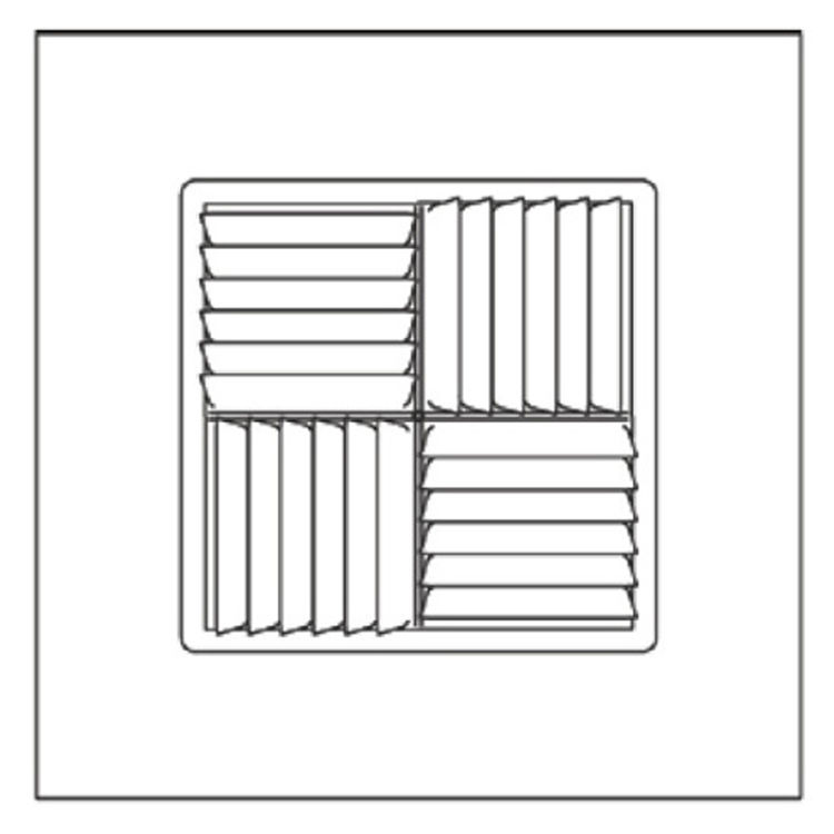 View 3 of Shoemaker 700MA-14X14-7 14X14-7 Soft White Modular Core Diffuser in T-Bar Panel - Shoemaker 700MA