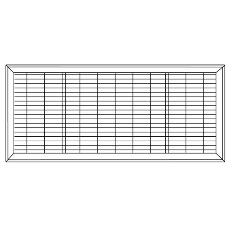 View 7 of Shoemaker 1600-R-12X30 12x30 Driftwood Tan Vent Cover (Steel Honeycomb Construction) - Shoemaker 1600R-12X30