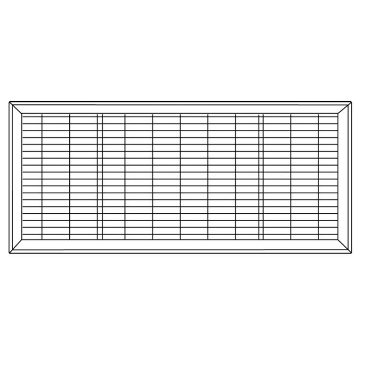 View 7 of Shoemaker 1600-R-10X36 10x36 Driftwood Tan Vent Cover (Steel Honeycomb Construction) - Shoemaker 1600R