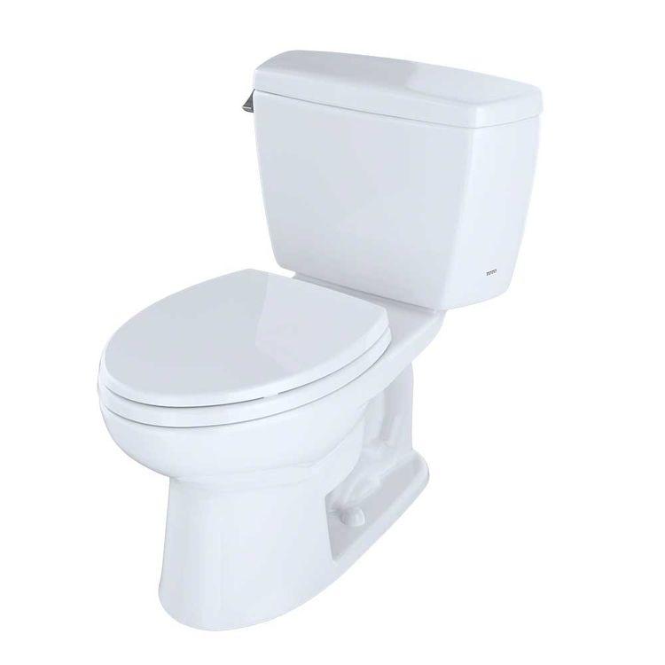 View 4 of Toto CST744S#01 TOTO Drake Two-Piece Toilet - 1.6 GPF , Elongated, Cotton White - TOTO CST744S#01