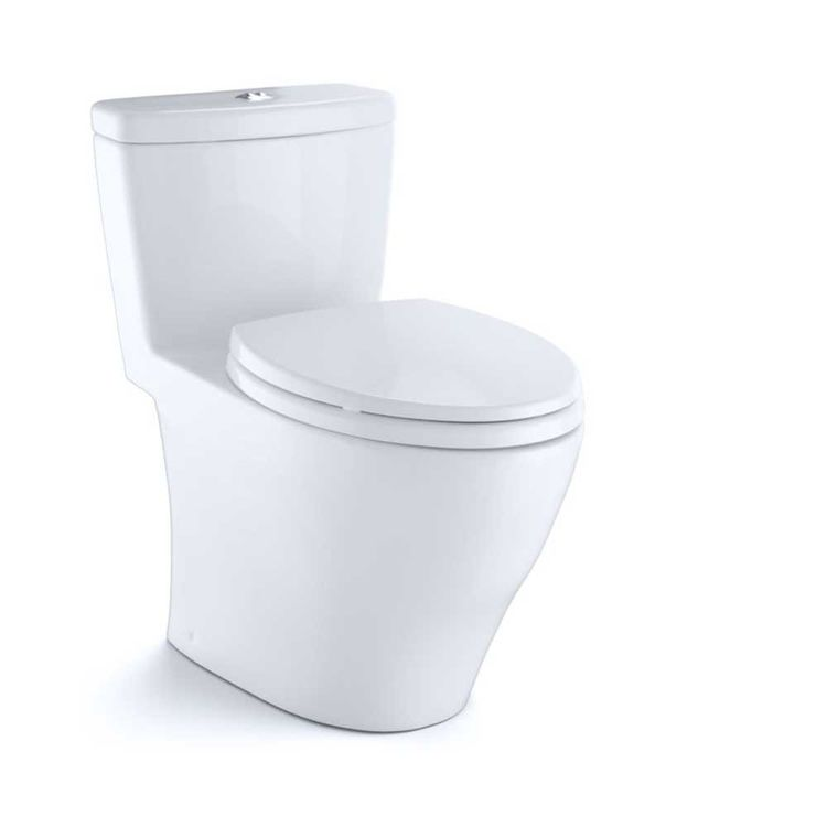 View 7 of Toto MS654114MF#01 Toto MS654114MF#01 Aquia One-Piece Dual Flush Elongated Toilet, 1.6 GPF and 0.9 GPF - Cotton White