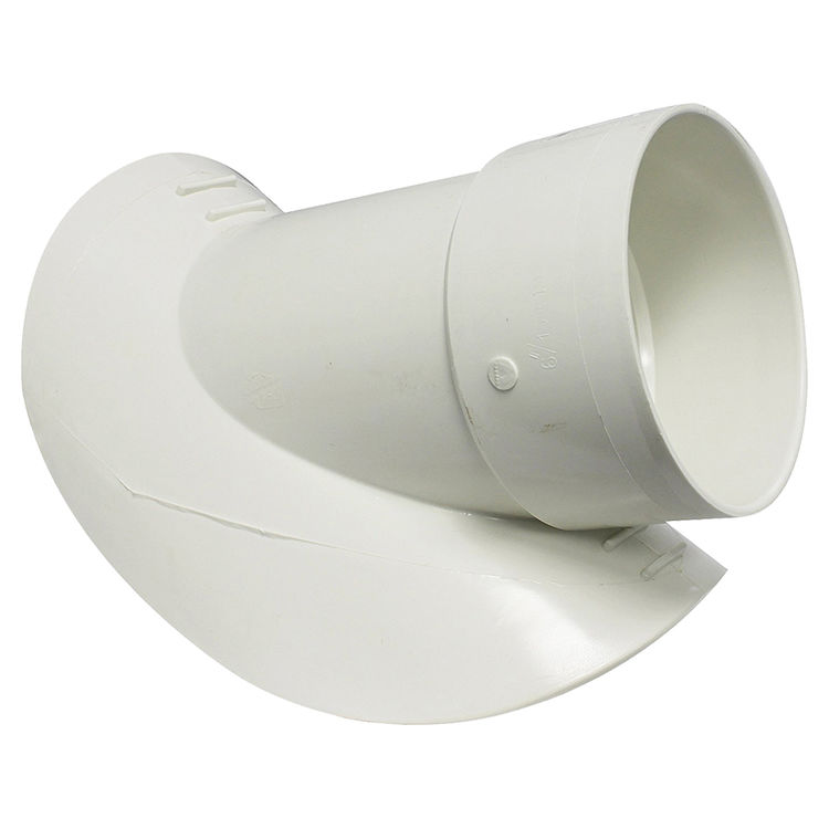 Commodity  Canplas 414868BC PVC 6 on 8 Saddle Wye Pipe Fitting - White