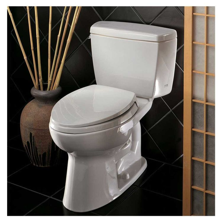 View 5 of Toto CST744SL#01 Toto Drake Two Piece  Elongated Toilet ADA, 1.6 GPF, Cotton White - CST744SL#01