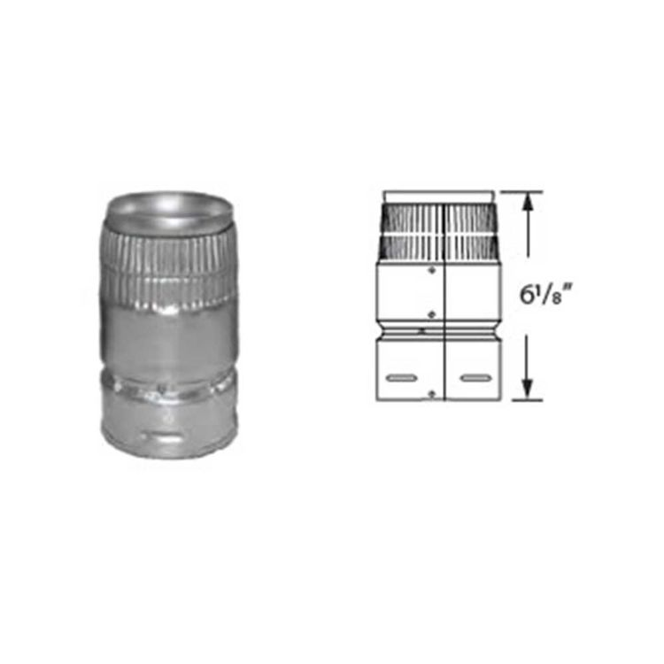View 3 of M&G DuraVent 4GVADHC DuraVent 4GVADHC Type B Gas Vent 4-Inch H/C Adapter