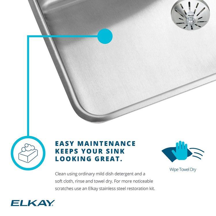 View 7 of Elkay LKHSR2509RPD1 Elkay Lustertone Classic Stainless Steel 33