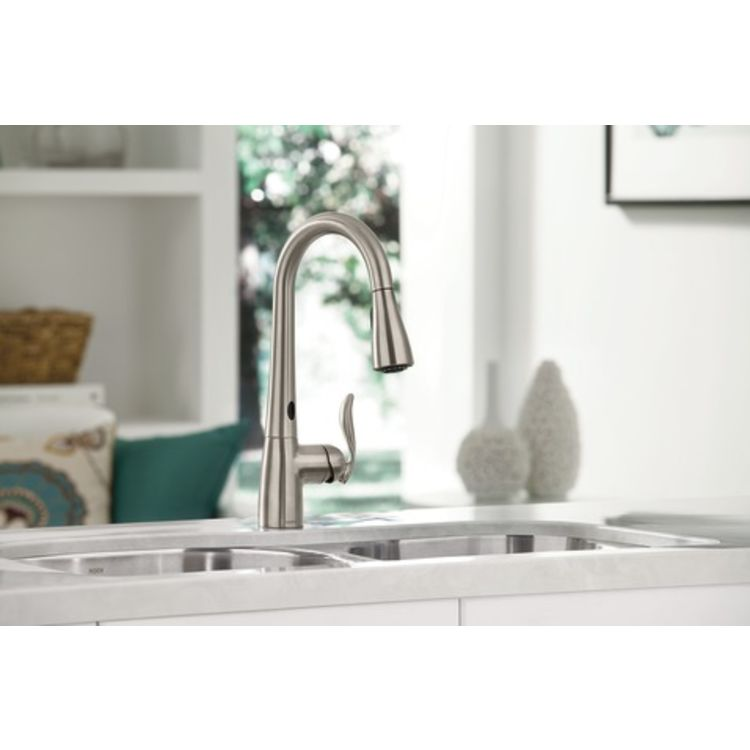 View 4 of Moen 7594EC Moen 7594EC Chrome Arbor Single Handle Pulldown Kitchen Faucet