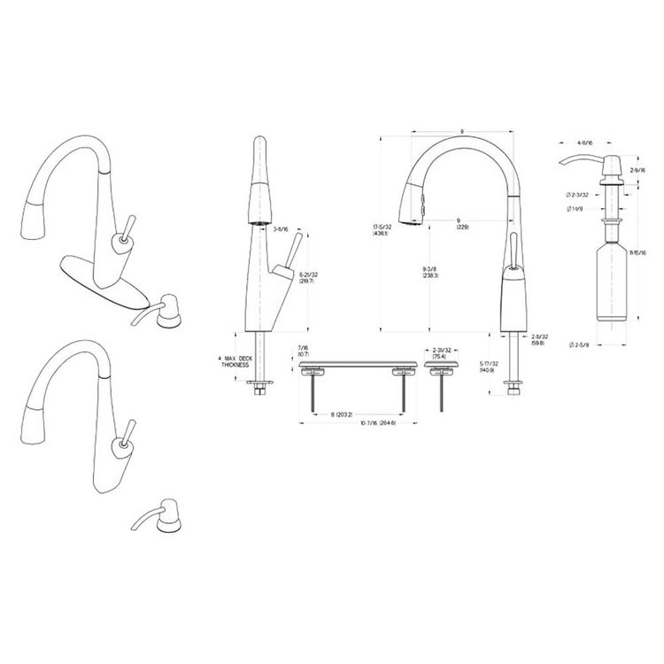 View 5 of Pfister GT529-MPS Pfister GT529-MPS Zuri One-Handle Pull-Down Kitchen Faucet - Stainless Steel