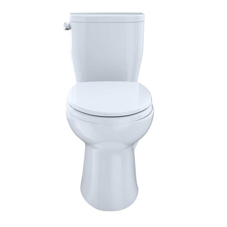 Toto Entrada Close Coupled Elongated Toilet - Cotton White, 1 28 Gpf - Toto  CST244EF#01
